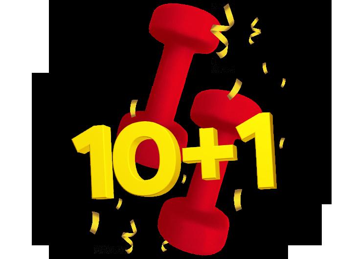 10+1 — даруємо 11-те заняття з тренером безкоштовно
